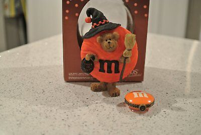 Boyds Bears Halloween M&Ms WITCH PEEKER & TREASURE BOX (Set of 2) - See Photos