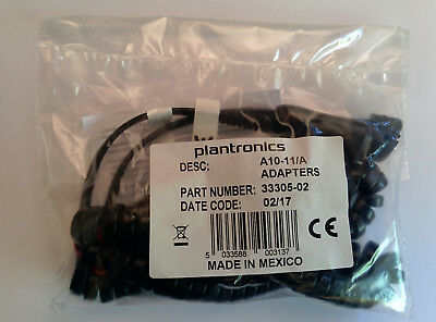 Plantronics A10-11/A In-Line Amplifier QD Cable for Direct Connect to Telephones