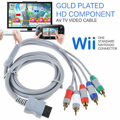 Plated High HD Component AV Video Cable For NINTENDO WII Console   BS