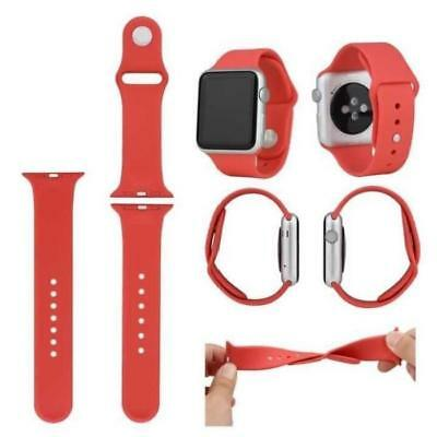 PLATYNE Bracelet pour Apple Watch - 38 mm - Silicone - Rouge