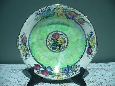 Vintage Maling 'springtime' Green Lustre Thumbprint Bowl - Good Condition