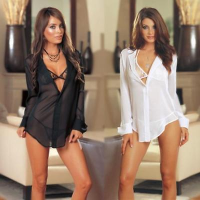 Sexy Transparent Shirt Lingerie OL/ Female Temptation Suit Pajamas String Dress