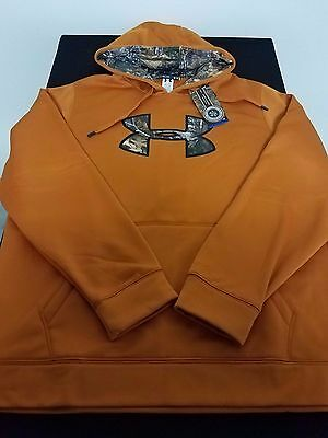 New Men's Under Armour UA Loose Pullover Storm Caliber Hunting Hoodie Size XL