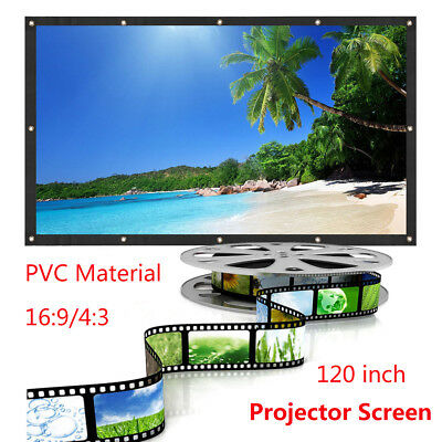 120'' Projector Screen 16:9/4:3  Portable Home Theater HD Outdoor Projectior AU