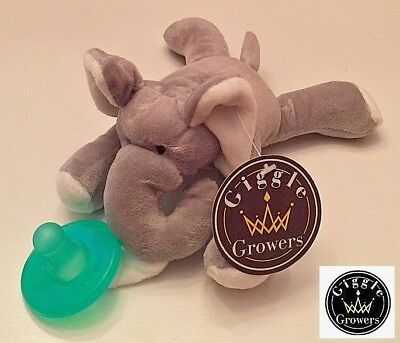New Plush Toy Stuffed Animal Gray Elephant Soothing Baby Pacifier FREE Shipping