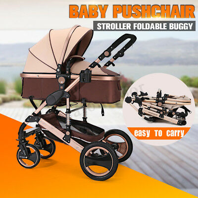 NEW 2017 Baby Stroller Newborn Carriage Infant Foldable Pram Pushchair Bassinet