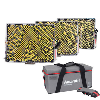 Aputure Amaran Tri-8 3 Light Kit 2*Daylight Spot Light+ 1*Bicolor Light- A Mount