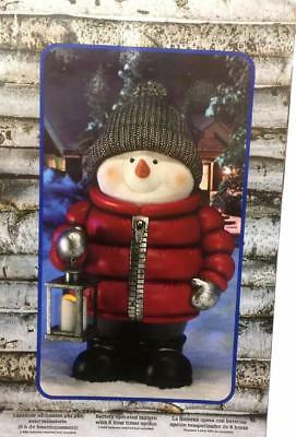 "71cm 28"" Christmas Snowman Outdoor Indoor w Led Lantern Lights Xmas Decoration"