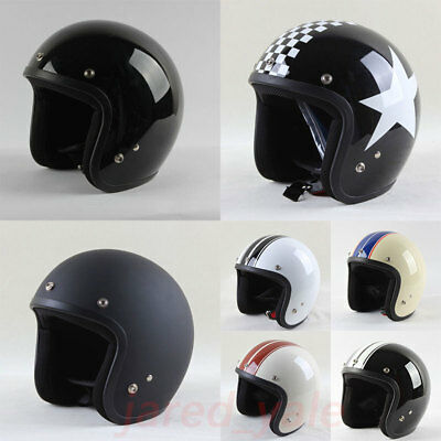 Open Face Retro Motorcycle Casco Capacete Scooter Motocross Jet Vintage Helmet