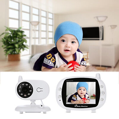 "Wireless 3.5"" TFT LCD Baby Safety Monitor Camera Audio Talk Video Night Vision"