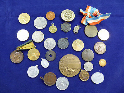 Lot of Vintage Medals, Medallions, Tokens, Exonumia, mostly Australian