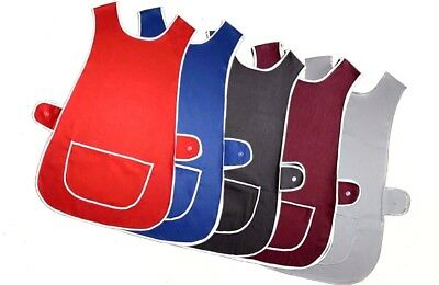 Plain Tabard,apron Cleaner Home Waitress  Staff Uniform Pocket In Multi Colour