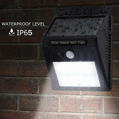 8/20/25/30 LED Outdoor Solar Powered PIR Motion Sensor Security Shed Wall Light