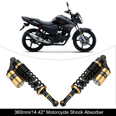 360mm Motorcycle Air Rear Shock Absorbers for BMW Honda CB750 CB1300 ZRX400 1200
