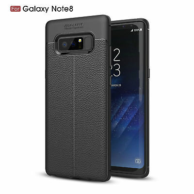 Black-For Samsung Galaxy Note 8 Slim Shockproof Soft Rubber Skin Back Case Cover