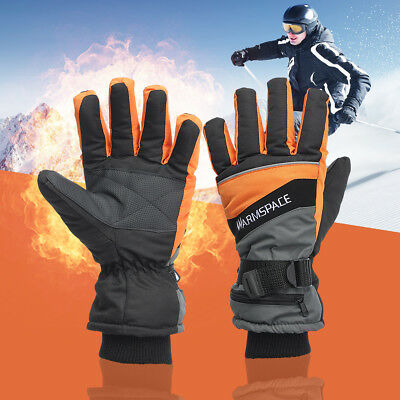Winter Electric Heated Motorcycle Gloves Rechargeable 4000MAh Battery Waterproof
