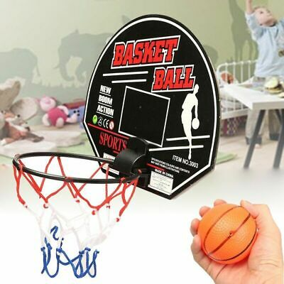 Kids Sports Mini Basketball Backboard Hoop Net Set Indoor Outdoor Toy W/ Ball
