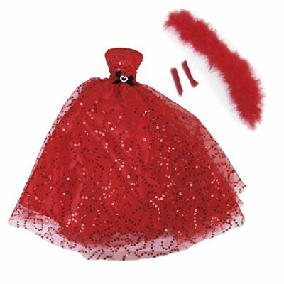 Hot Sequins Dress Strapless Gown w/ Shawl Gloves for Doll Bridal Wedding Party