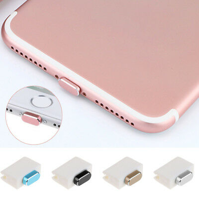 New Durable Metal Charger Port Charging Data Anti Dust Plug Caps for iPhone 7