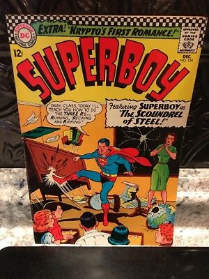 Superboy 1966 134  Comic DC Glossy Cover!