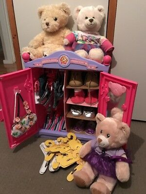 Build A Bear Wardrobe X3 Bears And Accessories
