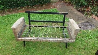 1950s 1960s Vintage Small Day Bed a lovely upholstery project