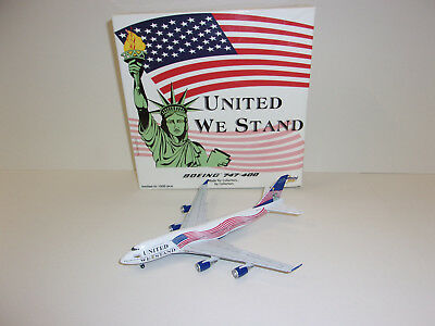Gemini Jets Boeing 747 United We Stand Limited Edition 1/400 !! RARITÄT !! OVP!!