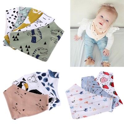 Infant Baby Unisex Bibs Feeding Saliva Towel Dribble Triangle Bandana Head Scarf