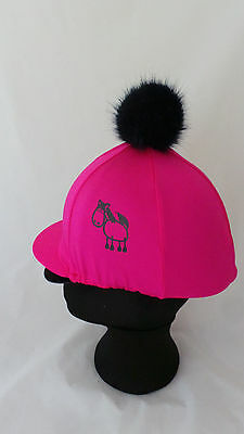 kids riding hat silks fat pony equestrian hat covers for younger horse riders.