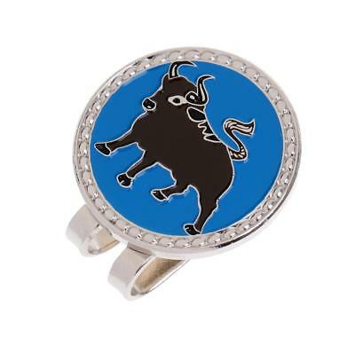 Metal Chinese Zodiac Ox Golf Ball Marker with Magnetic Hat Clip Golfer Gift