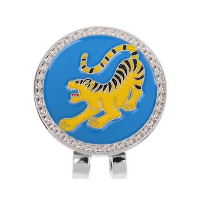 Metal Zodiac Tiger Golf Ball Marker with Magnetic Hat Clip Golfer Gift