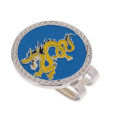 Metal Zodiac Dragon Golf Ball Marker with Magnetic Hat Clip Golfer Gift