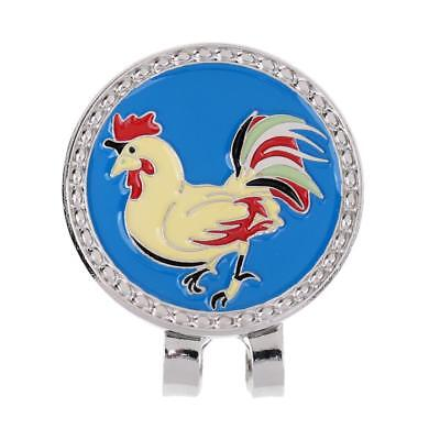 Metal Zodiac Chicken Golf Ball Marker with Magnetic Hat Clip Golfer Gift
