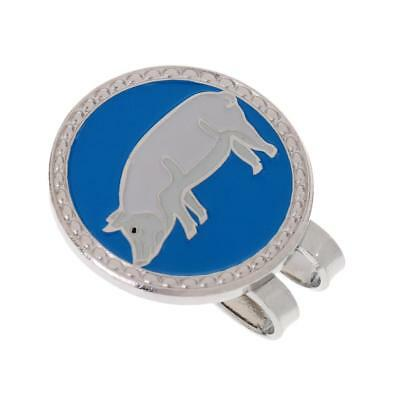 Metal Zodiac Pig Golf Ball Marker with Magnetic Hat Clip Golfer Gift
