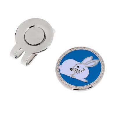 Metal Zodiac Rabbit Golf Ball Marker with Magnetic Hat Clip Golfer Gift