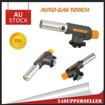 Butane Gas Burner Torch Auto Ignition BBQ Camping Welding Cooking Solder AU SHIP