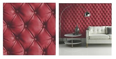 Arthouse Desire Headboard Leather Look Red Wallpaper, 618101