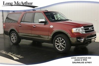 2017 Ford Expedition EL KING RANCH 4X4 NAV SUNROOF MSRP $71915 HEADREST DVD ENTERTAINMENT POWERED RUNNING BOARDS KING RANCH NAVIGATION MOONROOF