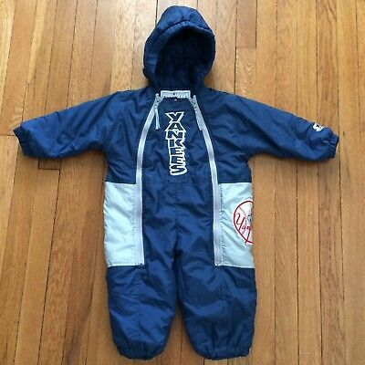 Vintage STARTER New York Yankees 24 Months Toddler Snowsuit Winter 2 Years
