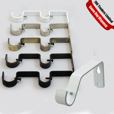 New Curtain Pole Rod Wall Bracket Holder Heavy Duty Metal Curtain Holder Rod