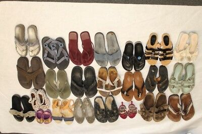 Lot Wholesale Used Shoes Rehab Resale Birkenstock Coach Pliner Chaco Ecco c^Pz