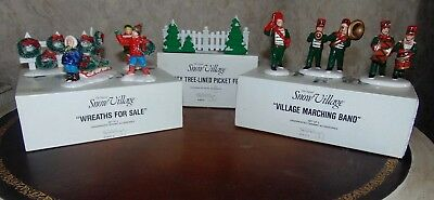 Vintage Snow Village-Lot Of 3 Accessories-In Box