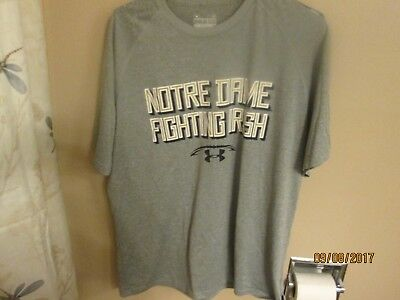 Mens Shirts--Brand New Under Armour Notre Dame Size Large