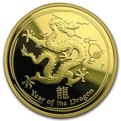 2012 Gold 1 oz Lunar Year of the Dragon Proof (Series II)