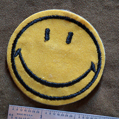"""Vintage 3"""" HAPPY FACE Patch (2 of 2)"""