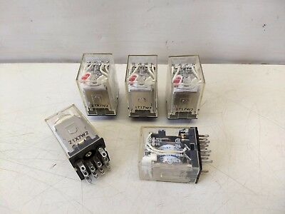 5 Pcs Lot Omron MY4N Cube Relay 14 Pin 110/240VAC