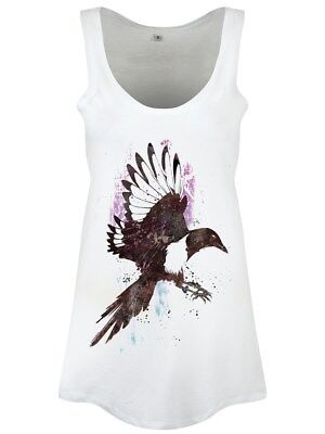One For Sorrow Floaty Women's White Vest