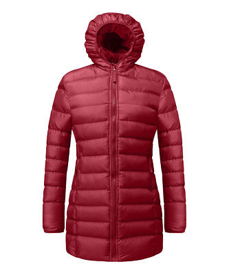 #364 Girls Age 5 / 6 Red Polar Fleece-Lined Puffer Hooded Coat Jacket BNWT