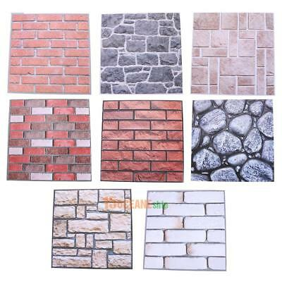 3D Brick Pattern Wall Sticker PVC Self-adhesive Decal Wall Paper Home Room Decor