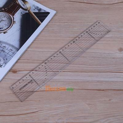 Sewing Patchwork Ruler Transparent Handmade DIY Quilting Edge Tailor Tool 30cm